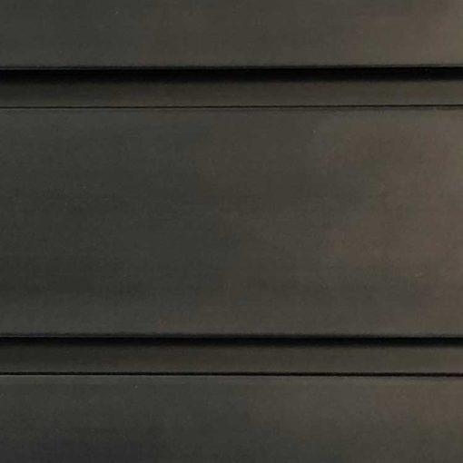 8 Foot Standard Duty Slatwall Panel Midnight Black