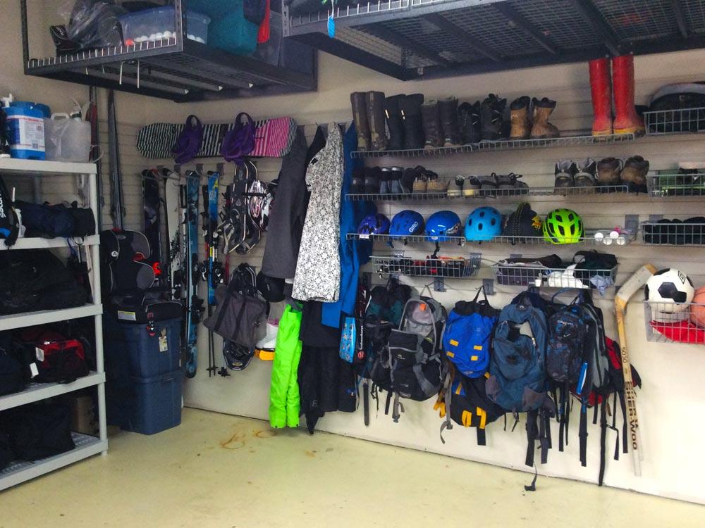 Organized garage storage