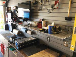 Garage storage slatwall