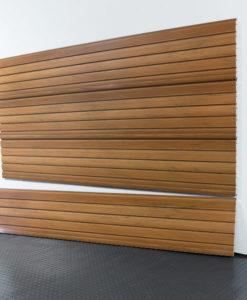 "StoreWALL Slatwall Heavy Duty Rustric Cedar Panel 15"" x 96"""