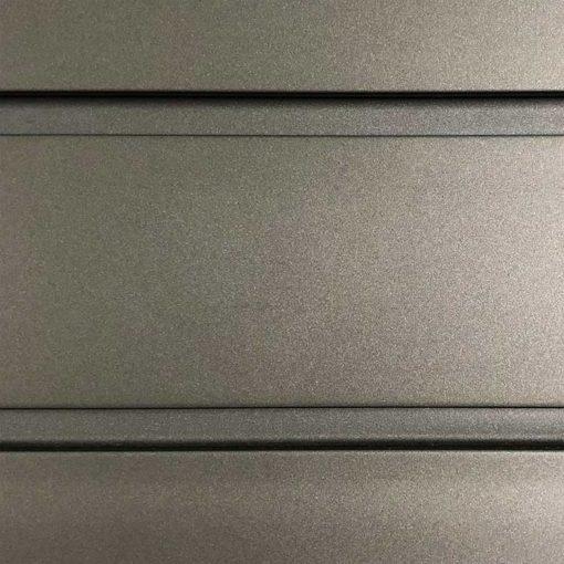 8 Foot Standard Duty Slatwall Panel Graphite Steel
